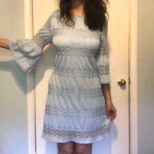 NWOT NY&C Baby Blue Bell Sleeve Dress